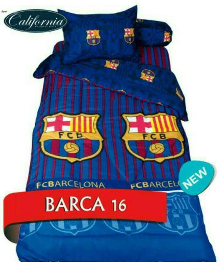 BEDCOVER CALIFORNIA BARCA No.3 SINGLE 120 BARCELONA KLUB BOLA Exclusive