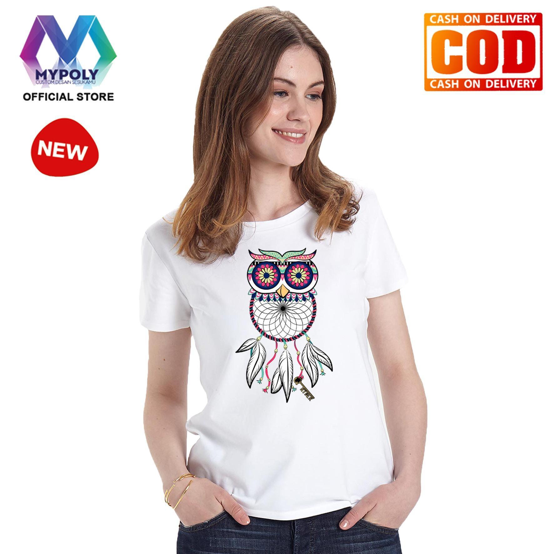 Kaos Premium Mypoly Wanita Perempuan WP / Baju Couple Family Keluarga / Tshirt distro Anak Wanita / Fashion atasan / Kaos Wanita Dewasa Owl Catcher