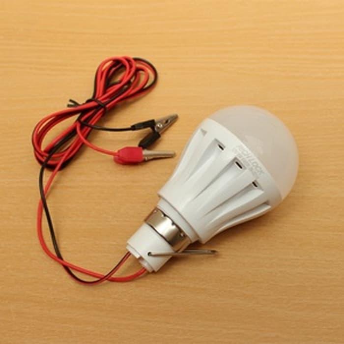 Lampu LED 12W DC 12V PUTIH Colok AKI u/ Emergeny/ Jualan 12W Lamp Mura