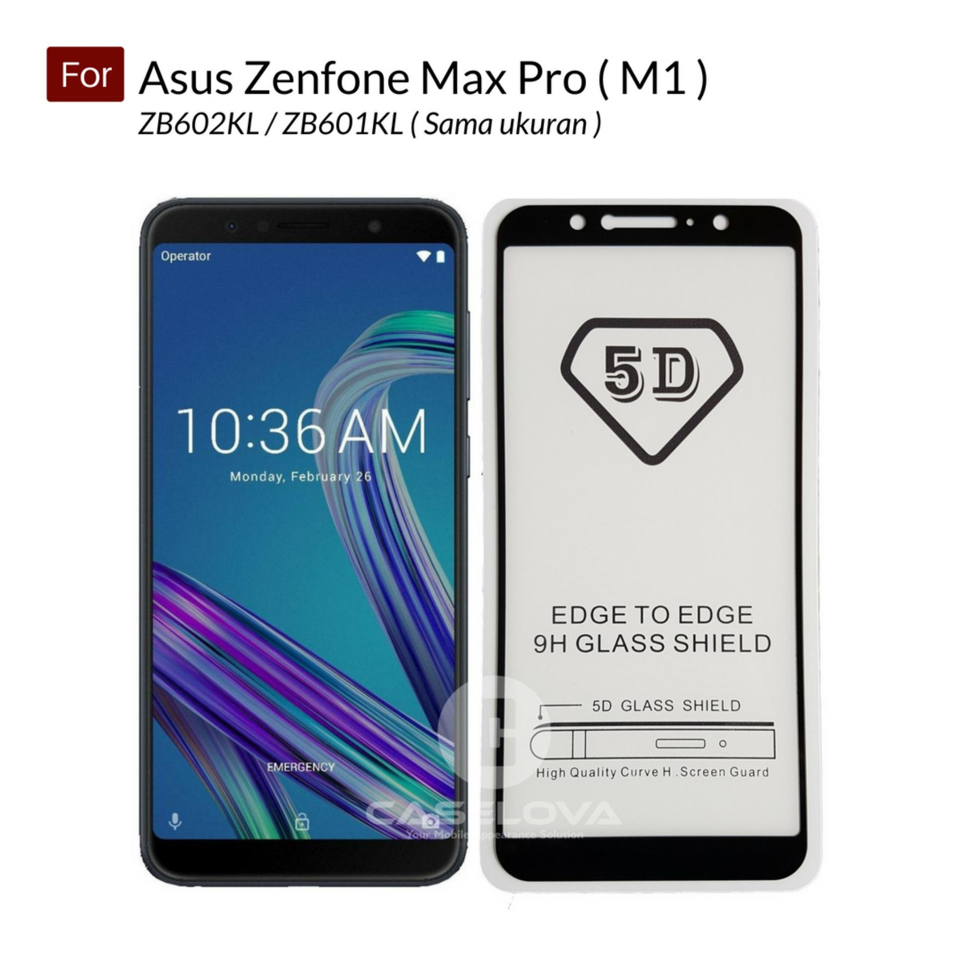 Caselova Premium Full Cover Tempered Glass 5D Round Curved Edge For Asus Zenfone Max Pro (M1) ZB602