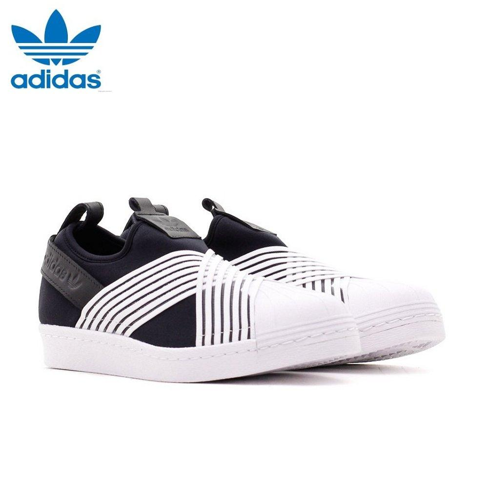 Adidas Unisex Originals Superstar Slip-on Shoes D96703 Black White 100% Authentic