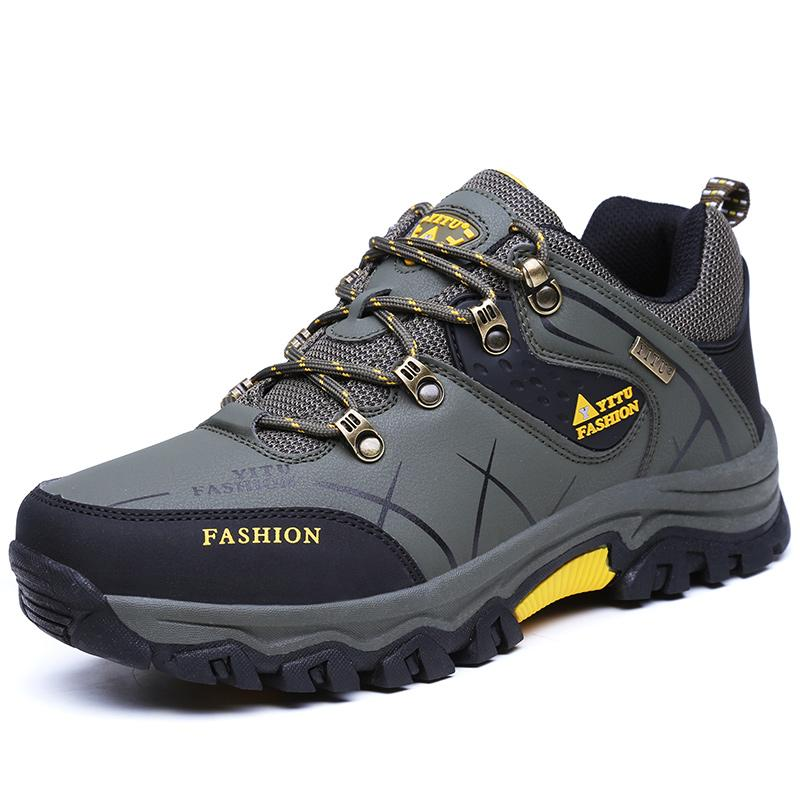 Manc Sepatu Pria Outdoor Naik Gunung Tahan Cuaca Anti-Selip 0d60401e30