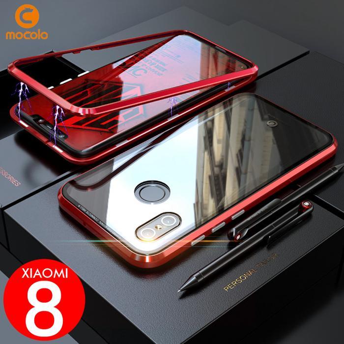 Paling Laku Xiaomi Mi 8 Mi8 Case MOCOLO Magnetic Luxury Alumunium Temp