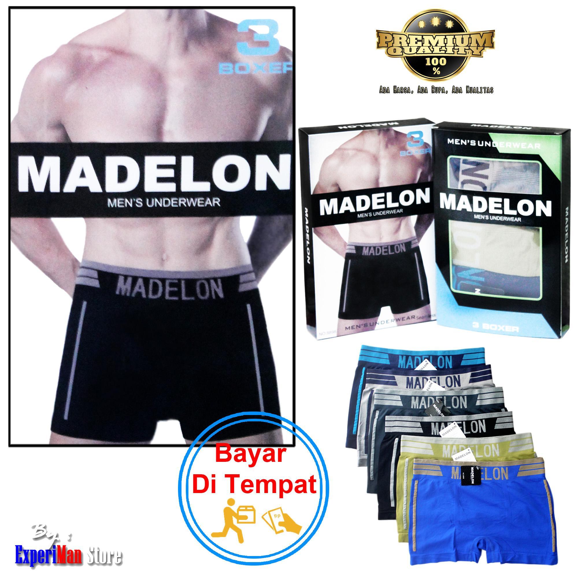 Pakaian Dalam Boxer Pria Termurah Celana Vakoou Usa Man Underwear Magnetic 3 Pcs Madelon Spandek Korea Rajut Tanpa Jahitan