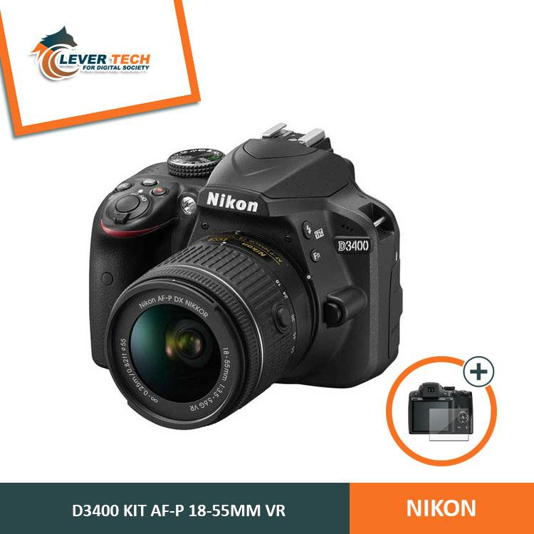 Nikon D3400 Kit 18-55mm - Hitam (Free Screenguard Terpasang)