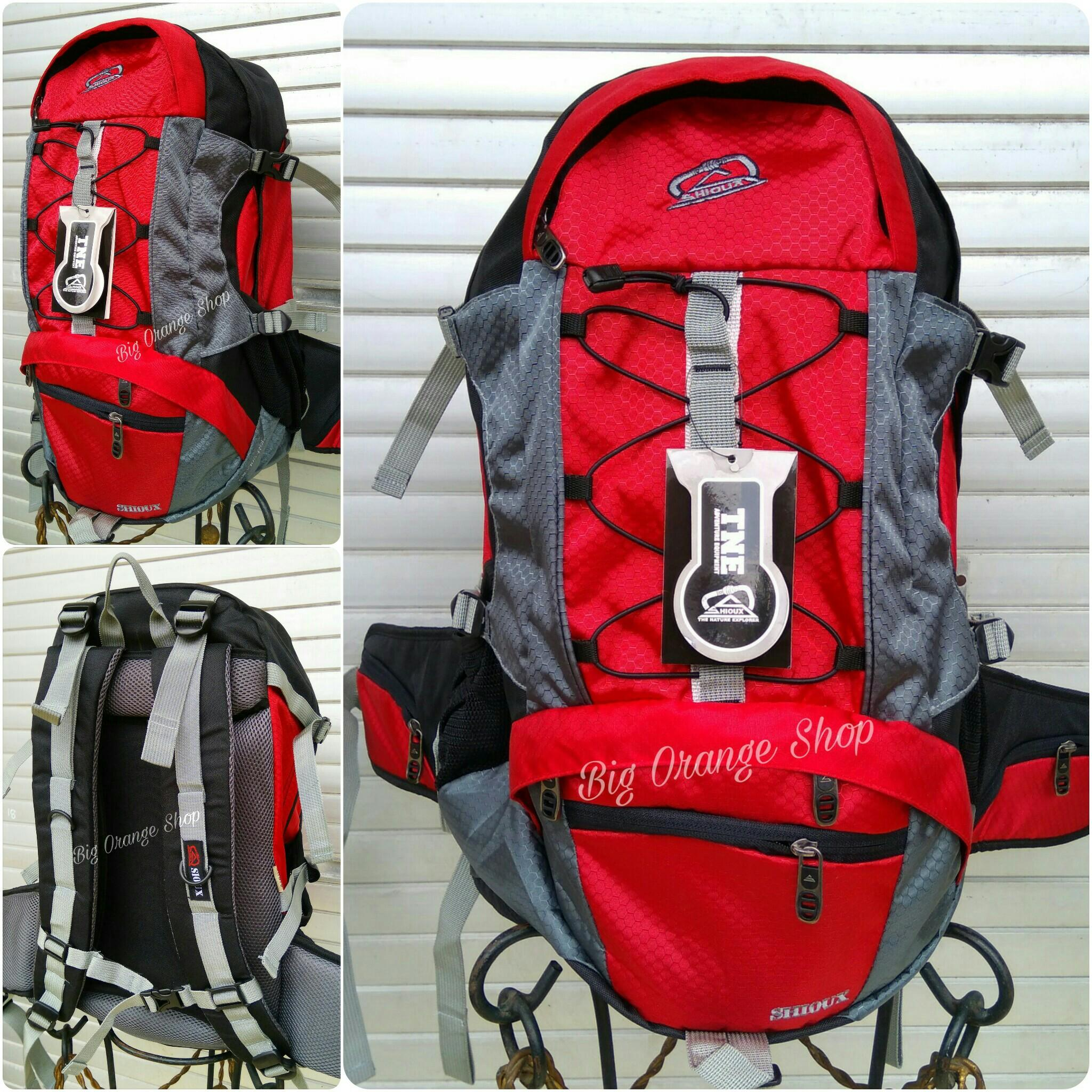 Tas Semi Carrier Sioux 30l Merah  Ransel Camping Backpack Daypack Shioux