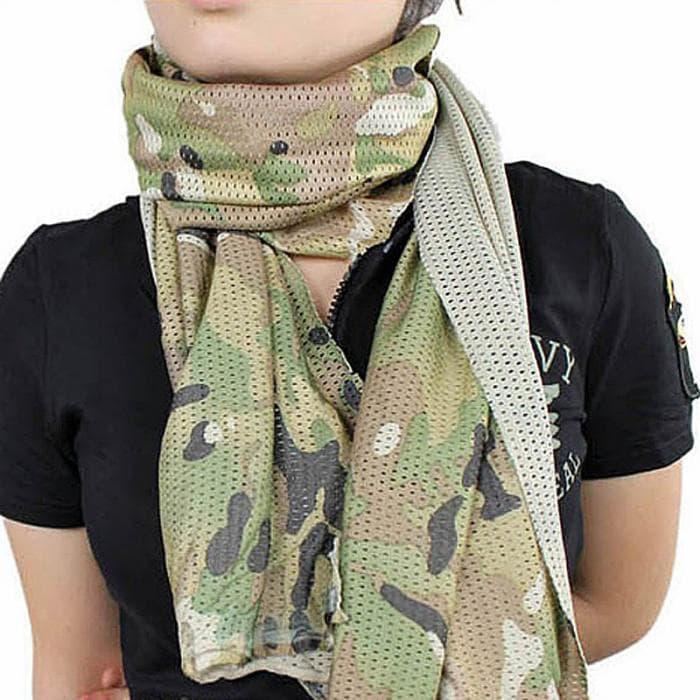 Syal Outdoor Scarf Army Camouflage Mesh Air Dry Comfort TBJY01A
