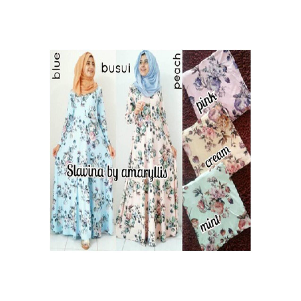 slavina dress ori amaryllis Amaliyah baju hijab