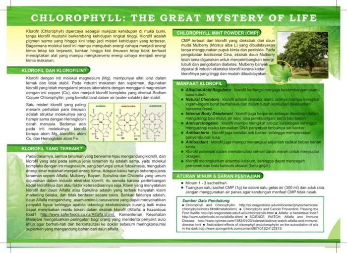 Promo - Chlorophyll Mint Powder/CMP Sangat Berkhasiat Utk Diet Serta Penyakit Lainya Asli Dari