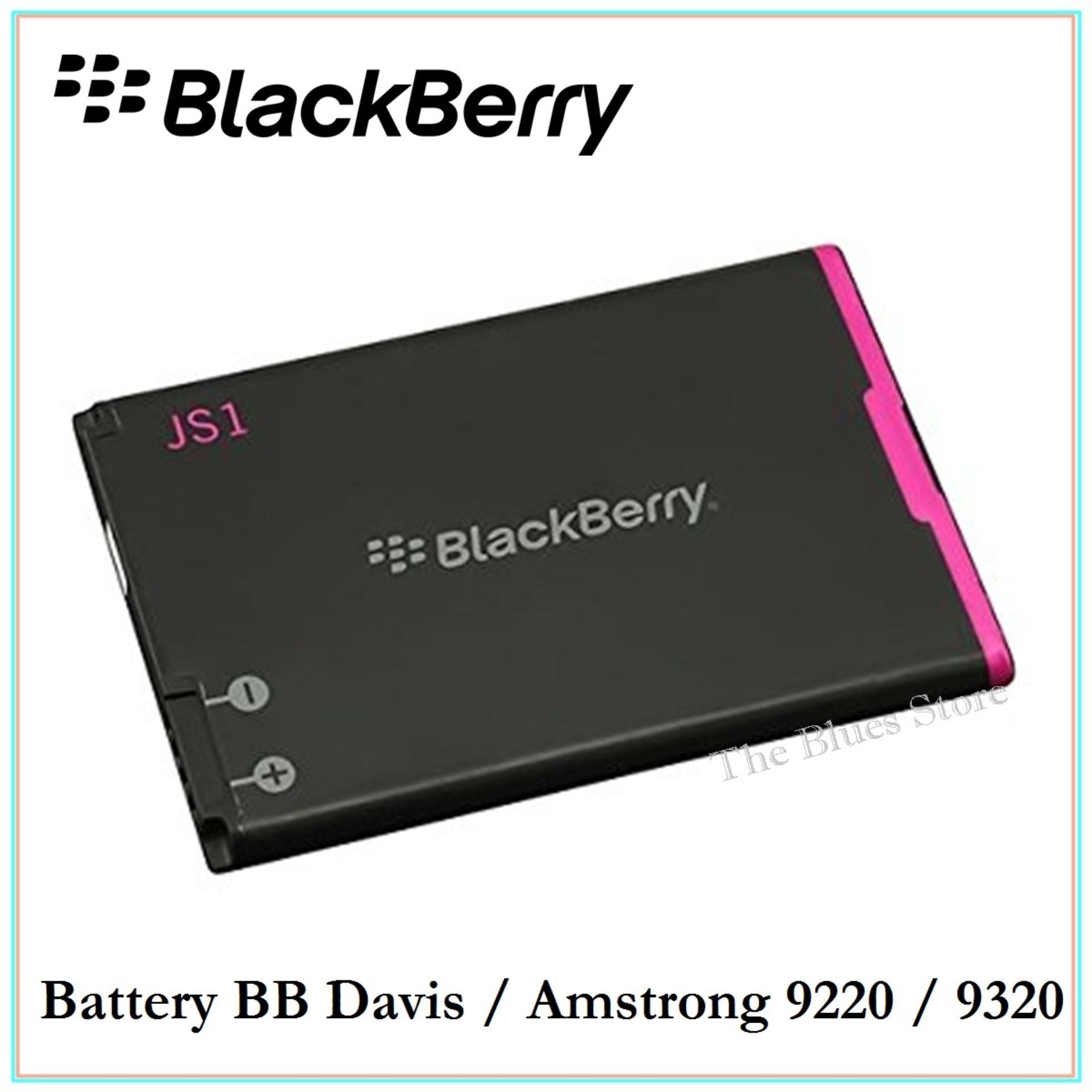 Produk Blackberry Terbaru Aurora Garansi Resmi 1 Tahun Hitam Black Battery Js1 Baterai Davis Amstrong 9220 9320 Capacity 1500mah Original