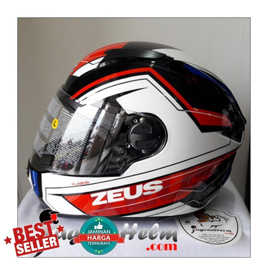 Jual Zeus Helm Fullface Murah Garansi Dan Berkualitas Id Store Zs811 Black Al12 Red Rp 832000
