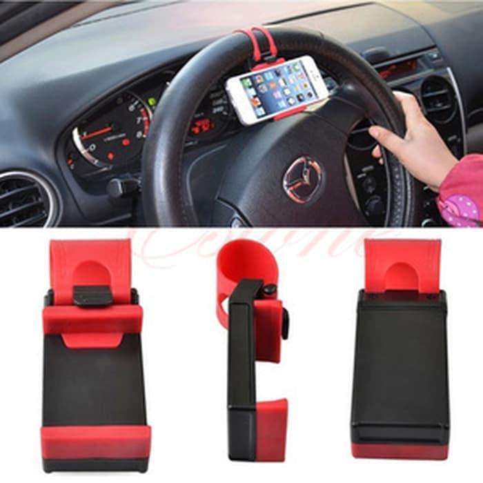 Pusat Barang Unik PG holder hp multifungsi (mobil/motor) / Car Steering Wheel Phone Holder AKESORIS ACCESORIS ORGANIZER FASHION HP TERBARU UNIK KEKINIAN MURAH