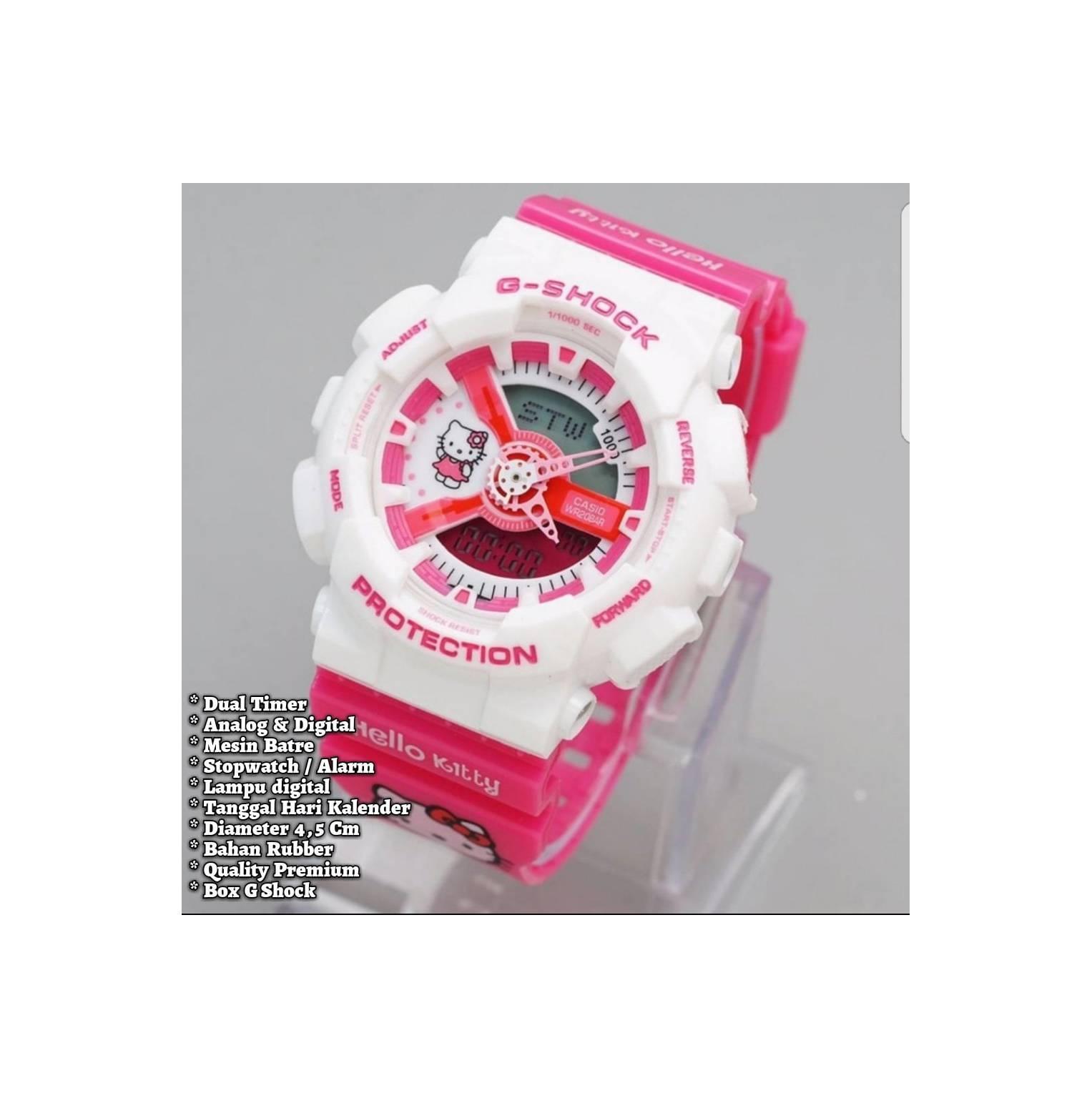 Casio G Shock Jam Tangan Pria Hitam Strap Resin Gd 350 1b Beli Original Wanita Hello Kitty Free Batre Cadangan