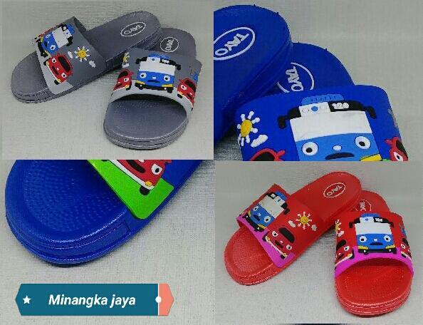 Sandal Karet Anak Lucu/Sandal Fashion Anak Karakter Tayo Di Kirim RANDOM-MJ