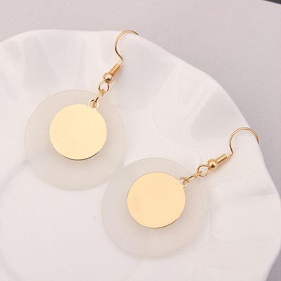 OILA anting fashion bulat double-layer round earrings jan146