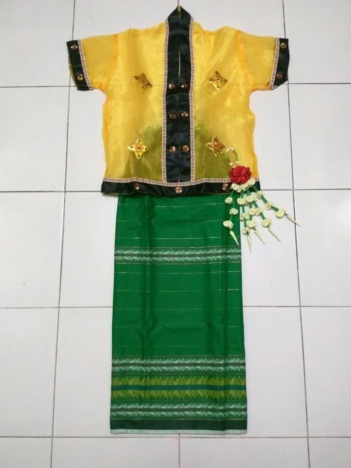 Promo Merdeka!! Baju Bodo Kostum Karnaval Anak Sd Adat Sulawesi Selatan Diskon - ready stock