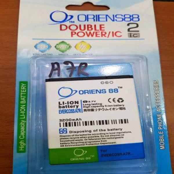 Baterai Oriens88 EVERCOSS A7R Dowble power