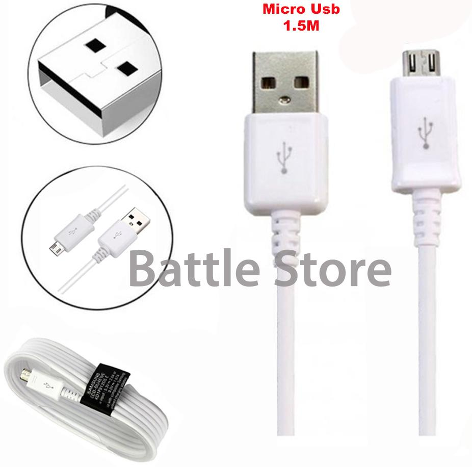 Samsung Kabel Data Charger Cepat Panjang 1.5M For Note 4 Super Fast Charger Dan Transfer Data - Putih