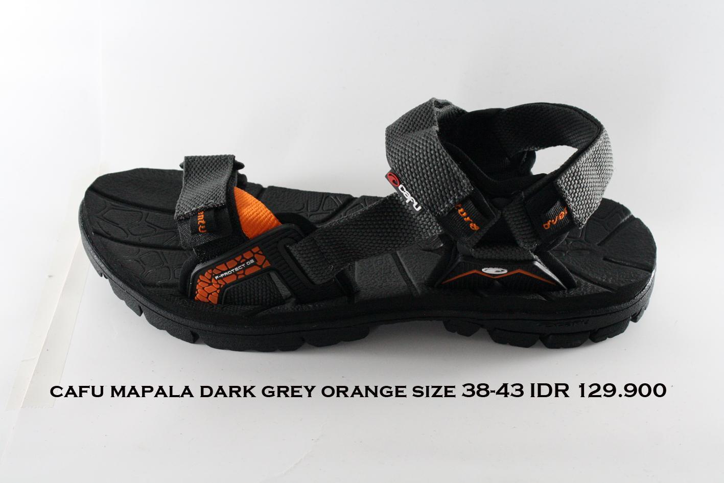 cafu mapala sepatu sandal gunung pria abu tua orange