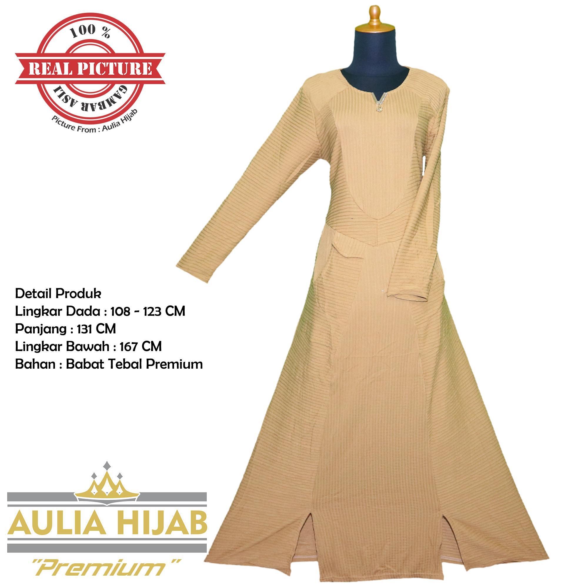 [Premium] Aulia Hijab - Gamis Merry Dress #1 Premium Bahan Babat Premium/Gamis Premium/Gamis Terbaik/Gamis Kerja/Gamis Santai/Gamis Pesta/Gamis Anak Muda/Gamis Terbaik/Gamis Aulia Hijab/Gamis Murah/Gamis Gambar Asli/Gamis Real Picture/Gamis Babat