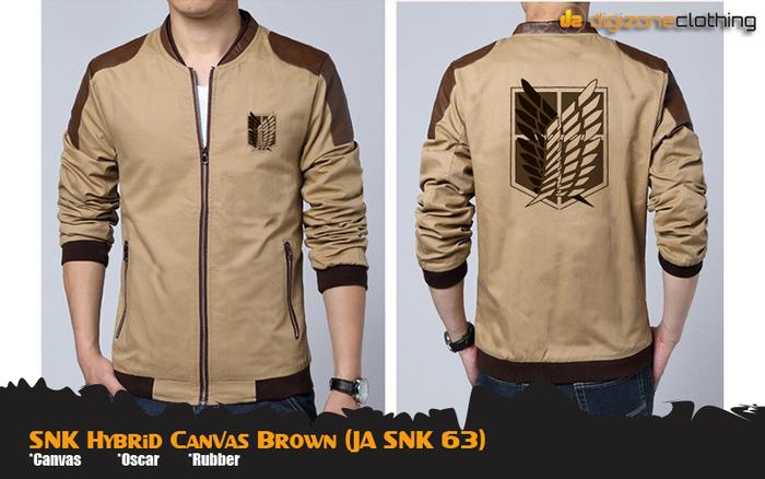 Harga Spesial!! Jaket Anime Attack On Titan Hybrid Canvas Jacket (Ja Snk 63) - ready stock
