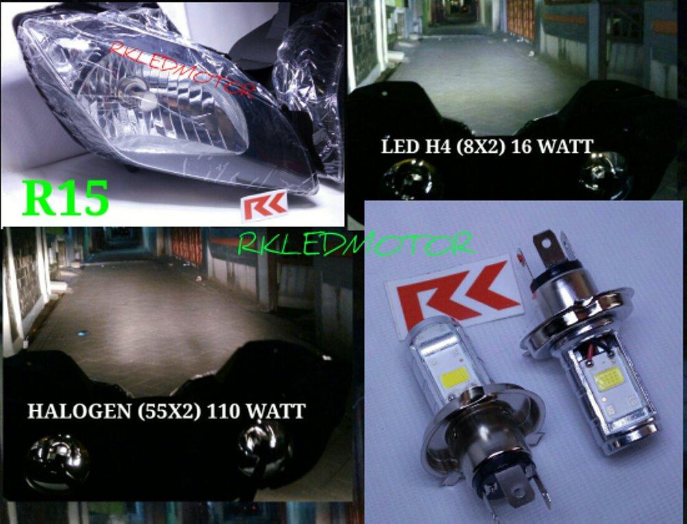 LAMPU LED R15 | LAMPU LED H4 CBR 150 R | LED MOTOR K45 | LAMPU HS1 HI/LOW PNP di lapak RK MOTOR CIL