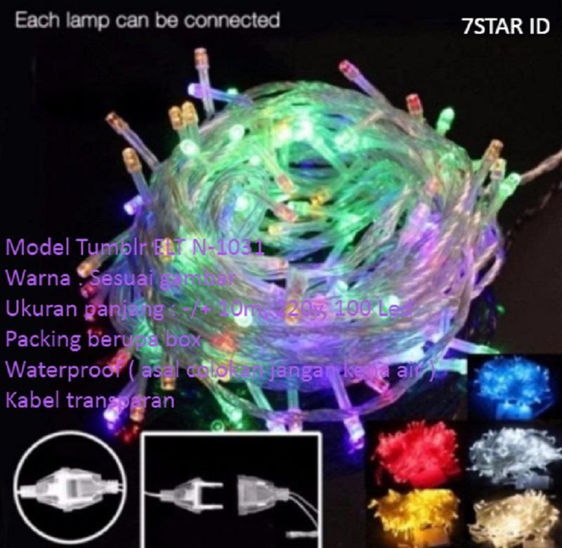 Lampu Tumblr Kamar With LED Dekorasi 7STAR / Lampu Hias ELT N-1031 7STAR Dan Lampu Tumblr Natal Twinkle Light 10 Meter FULL + Ada Colokan Sambungan