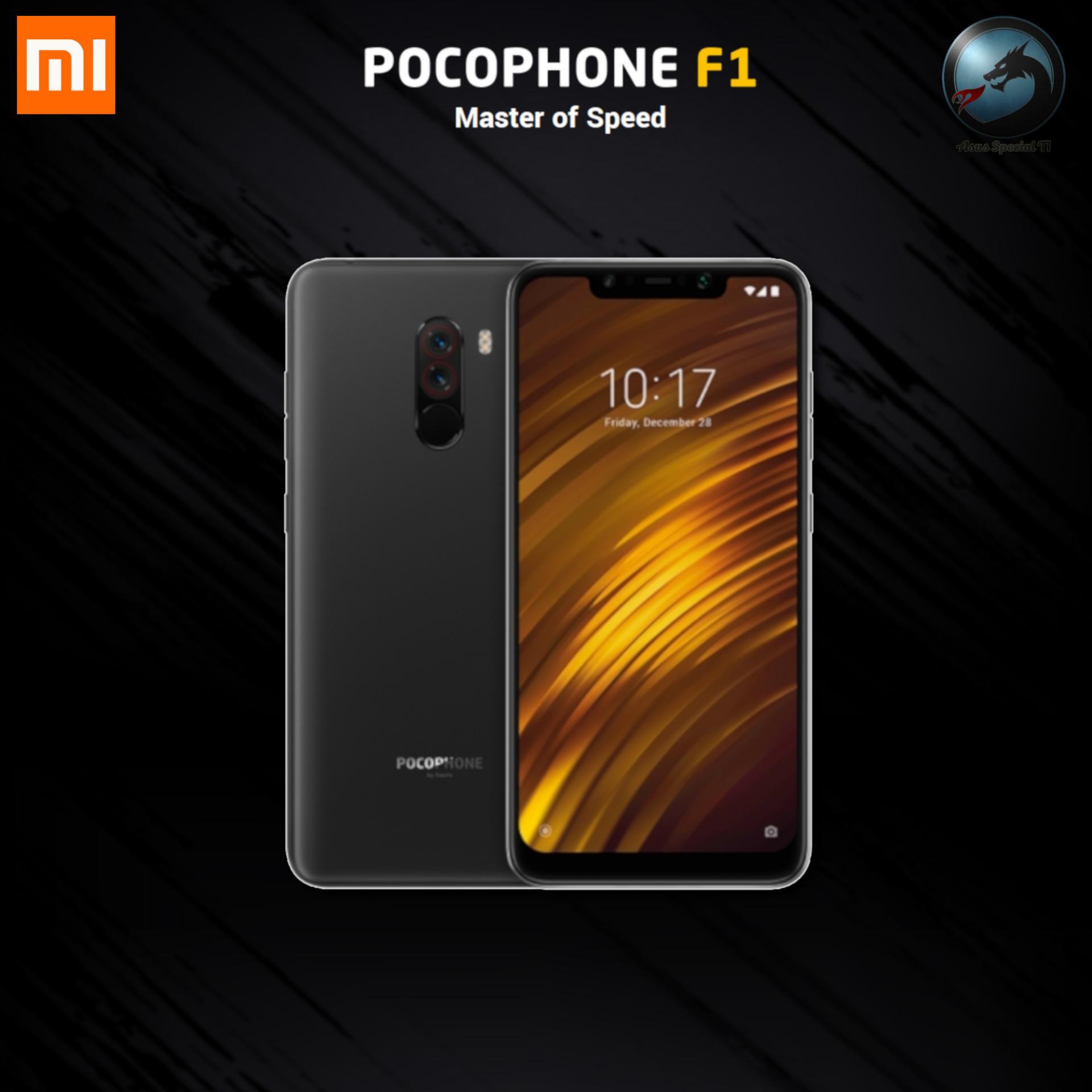 Xiaomi Pocophone F1 6/64GB Flagship Processor Snapdragon 845 Garansi Resmi TAM