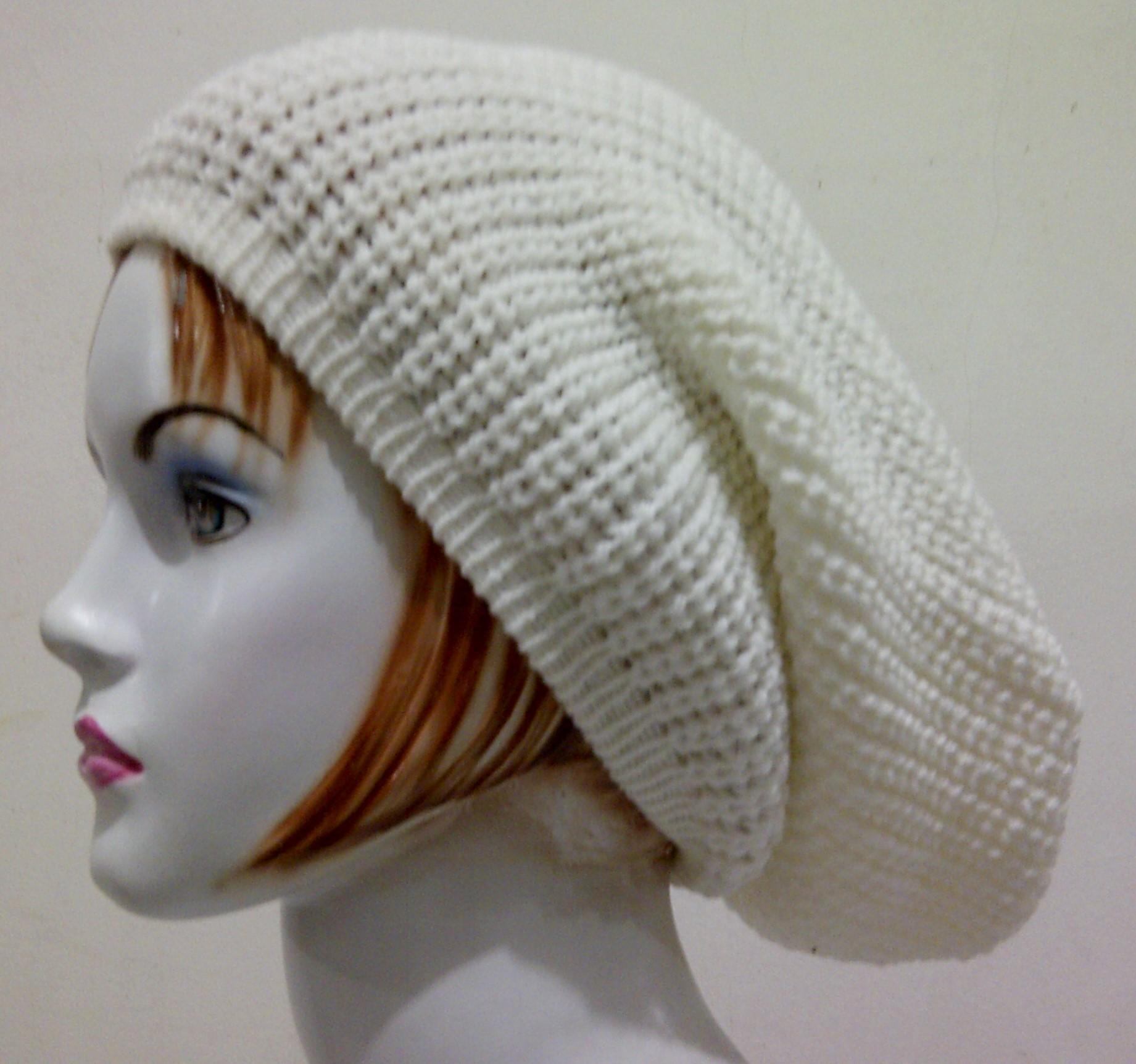 Cream Beanie Hat   Topi Kupluk Rajut Okechuku bc4d8557c9