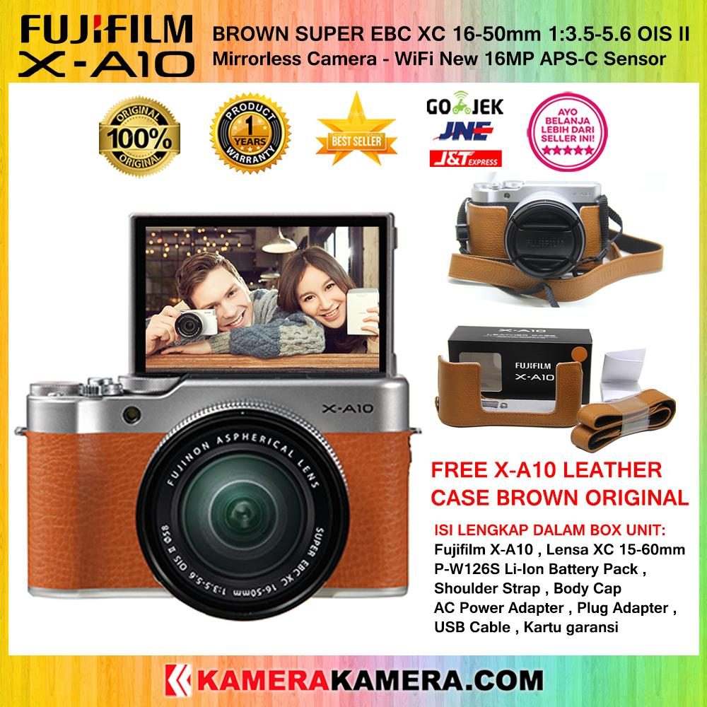 Kamera Mirrorless Fujifilm Termurah X A2 Double Kit 16 50mm Ampamp 50 230mm Paket A10 Xc Ois Ii Wifi 16mp Cmos Sensor Garansi