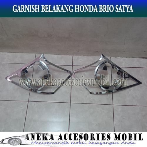 JSL GARNISH CHROME LAMPU BELAKANG HONDA  BRIO SATYA/ BRIO TAIL LAMP GARNISH SPORTY CHROME