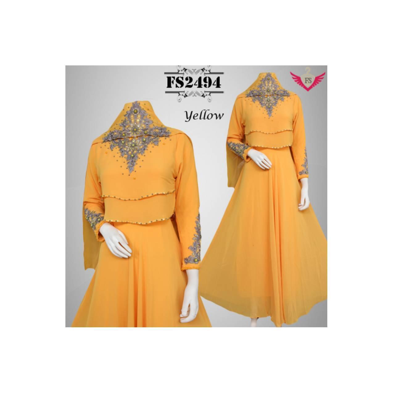 Sale Baju Pesta Ceruty Nafisah FS2494 + Pashmina