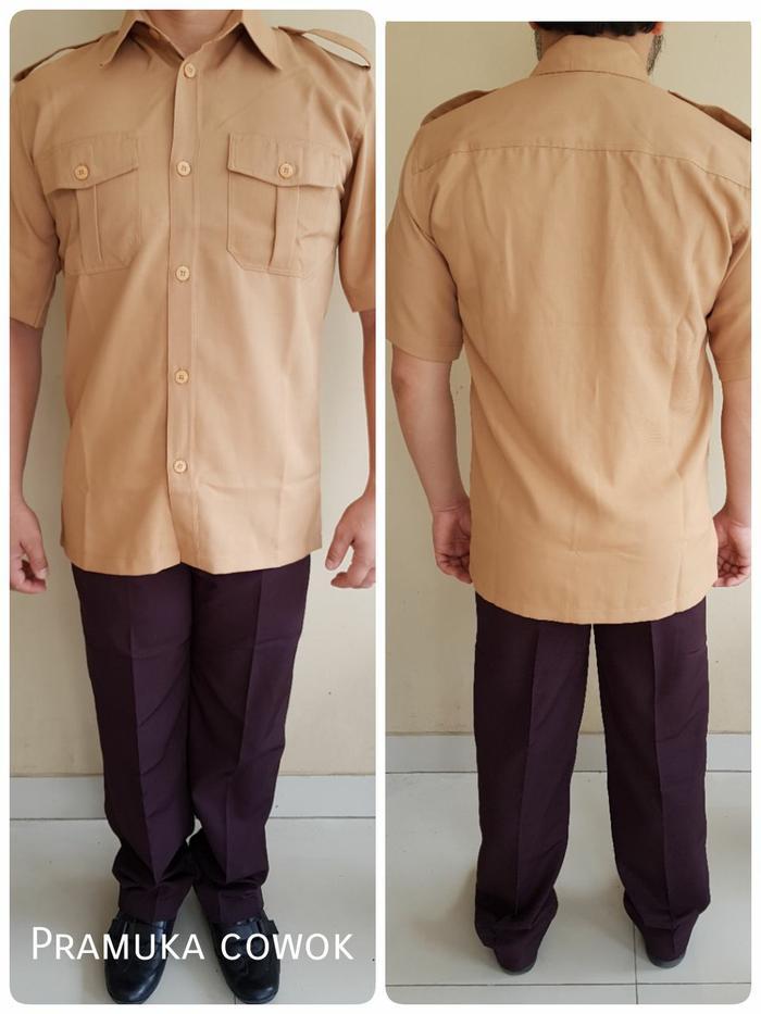 Atasan Baju KEMEJA Seragam Guru Kakak Pembina Pramuka Cowok/Pria/Laki - 8e1D5i