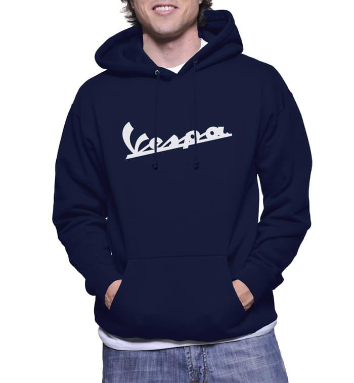Hot Item!! JAKET HOODIE VESPA NAVY SWEATER KEREN - ready stock