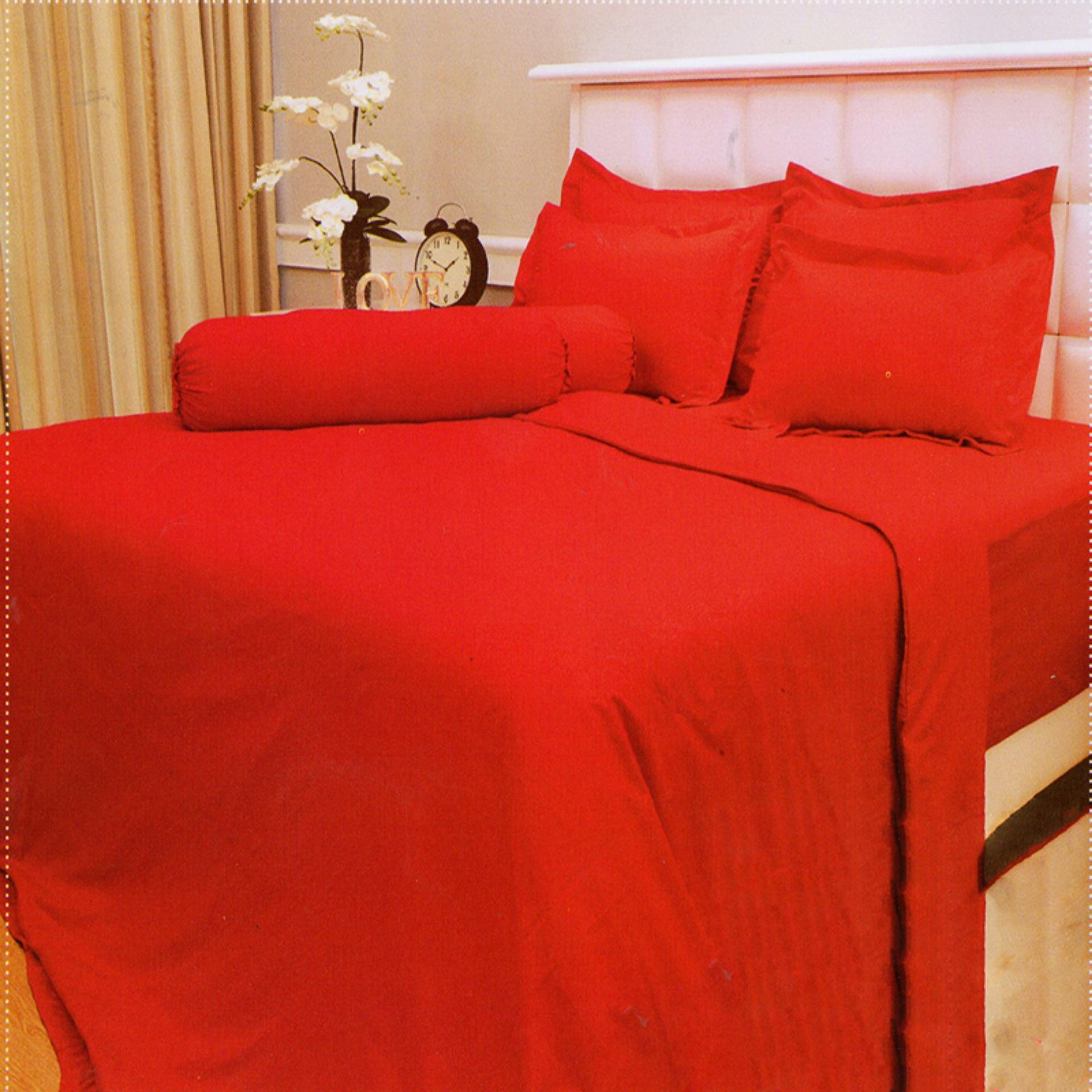 Vallery Sprei Jacquard 120x200 - Merah