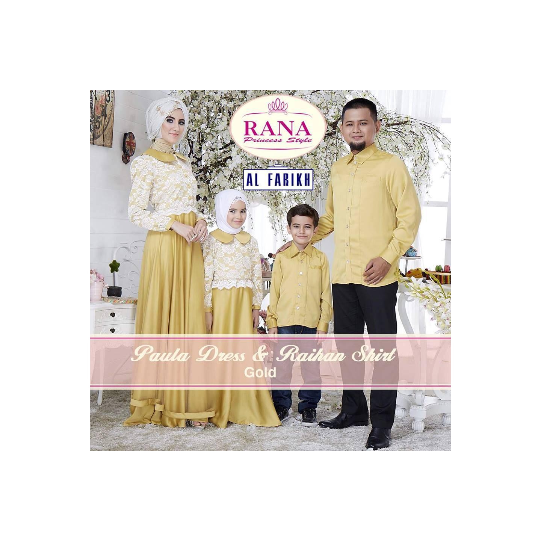 Rana Paula Dress/Gamis Pesta/Baju Muslim Couple
