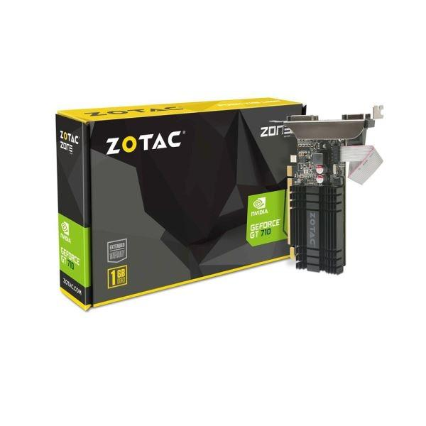 VGA Card Zotac PCIE GT 710 1GB DDR3 (Original Resmi)