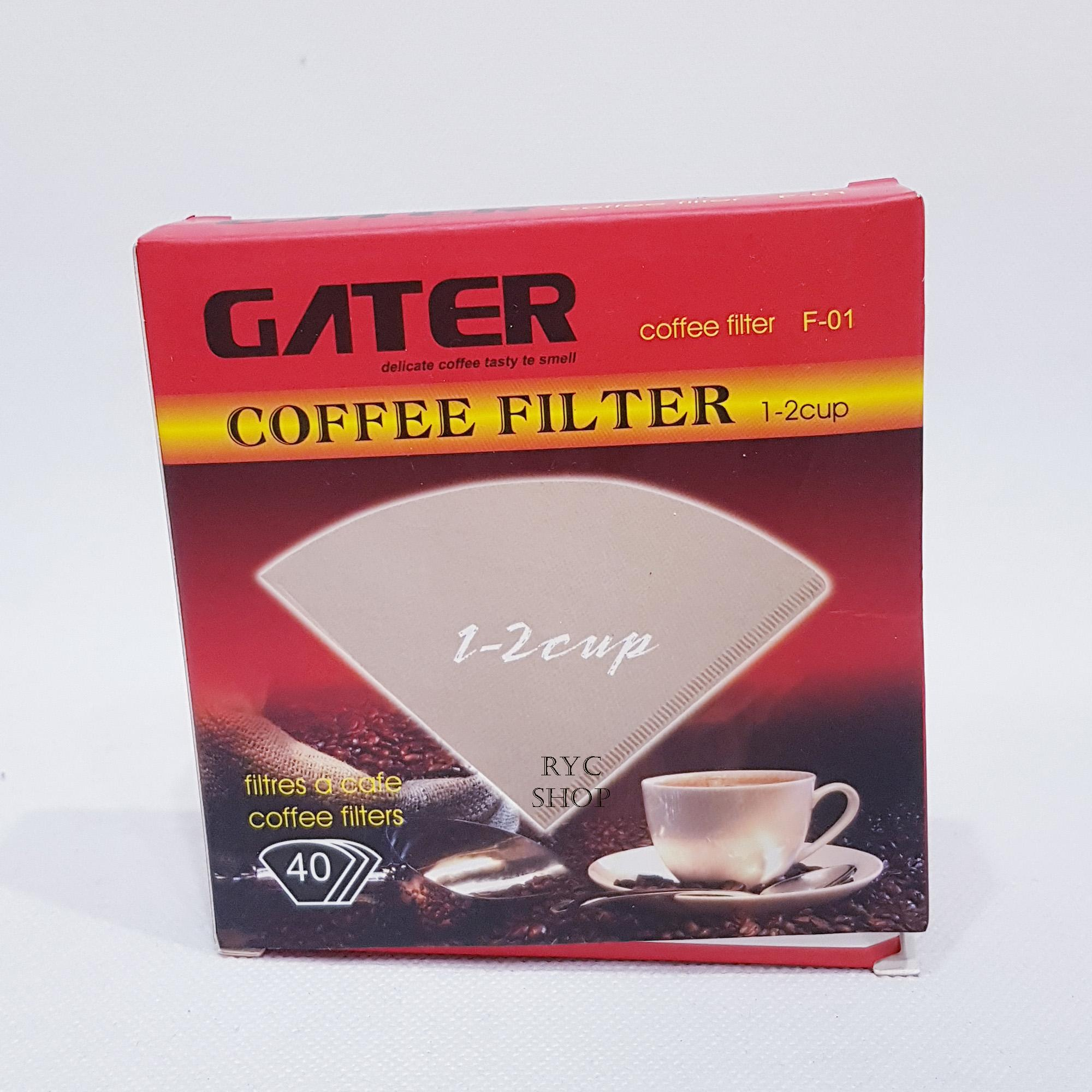Kertas Filter Saringan Kopi / Coffee Filter Brew / Coffee Filter Kerucut Gater 1-2