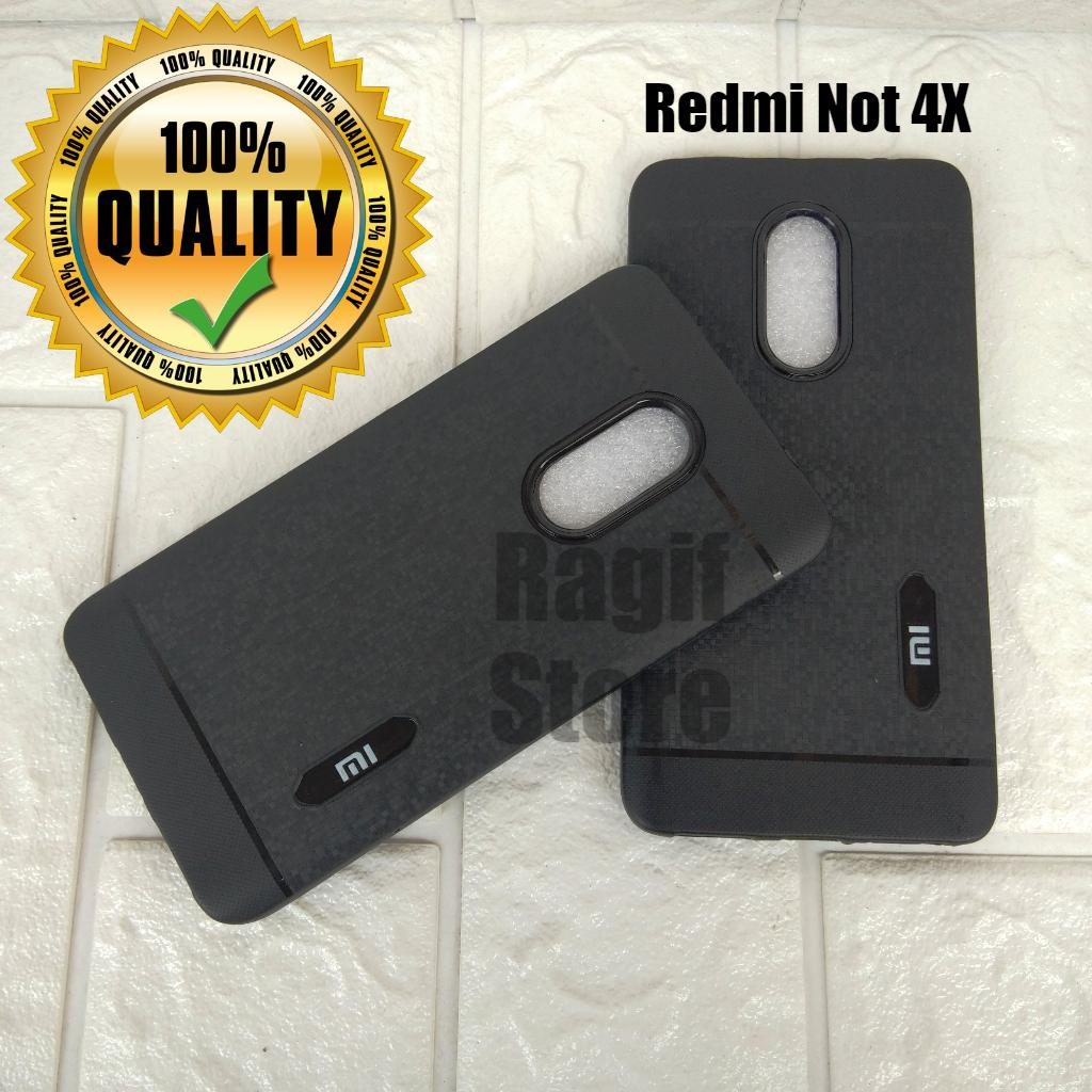 New Casing For Redmi Not 4X Silicon Black Edition