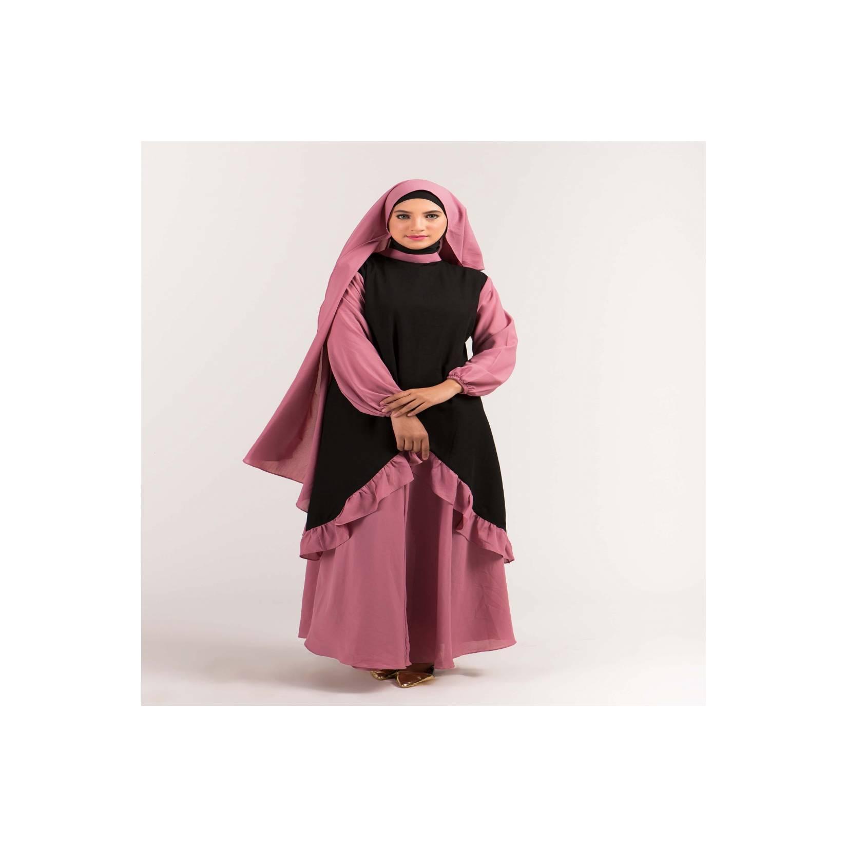 Baju Gamis Wanita Syari Brokat Abaya Muslim Gareu GJT 4225