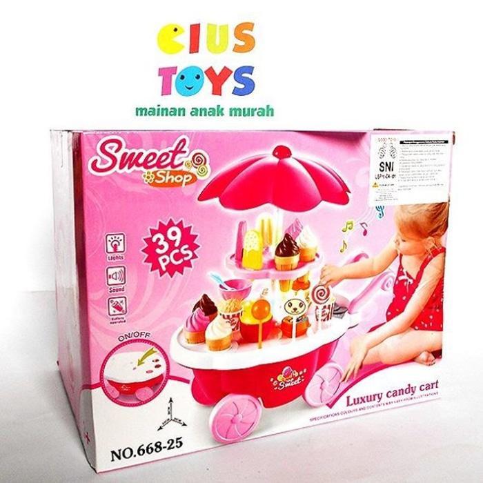Mainan Jual-Jualan SWEET SHOP CANDY CART MURAH - Pn3bih