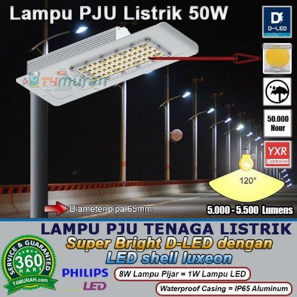 Lampu Jalan LED 50W Super Bright D-LED untuk Jalan perumahan & Jalan Raya
