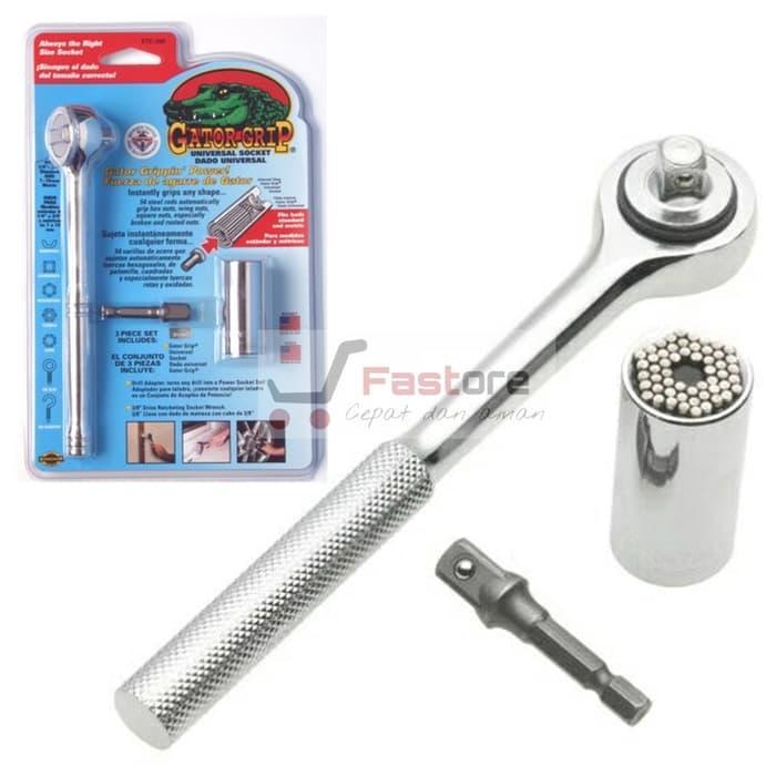 Kunci Shock 7 - 19 mm dalam 1 Paket Praktis - Gator Grip Universal