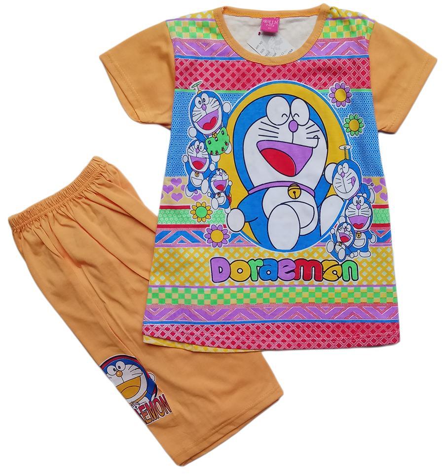 Baju Kaos AtasanT-shirt Setelan Anak Perempuan Doraemon DRHK042018