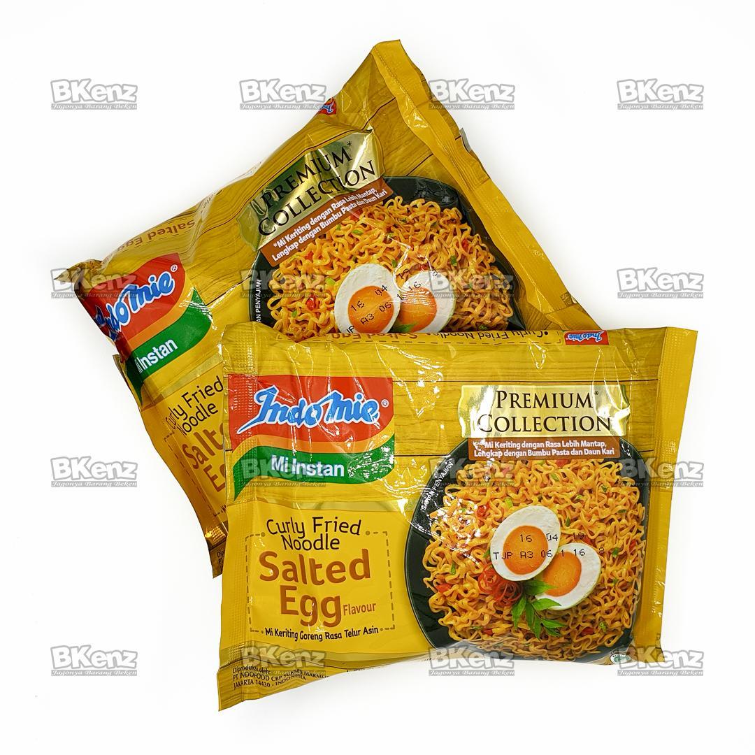 Indomie Termurah Terlengkap Salted Egg Paket Isi 2 Curly Fried Noodle Telur Asin Baru Free Bubble