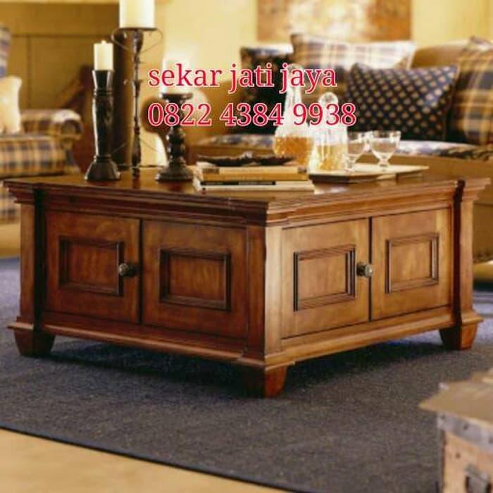 Promo    Meja tamu coffee table jati jepara bisa custom melayani pesanan    Original