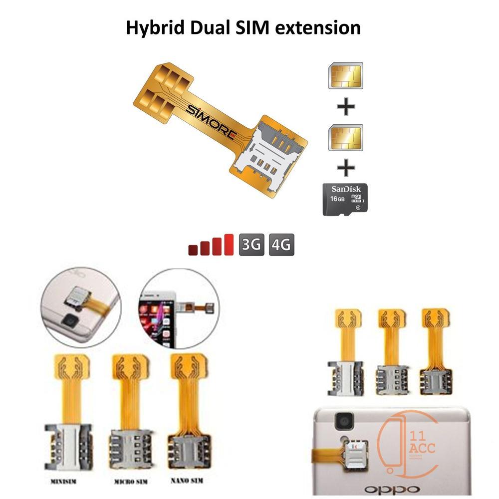 Adapter Dual Sim Card Nano Hybrid Kabel Flexible Extender By 11 Acc.