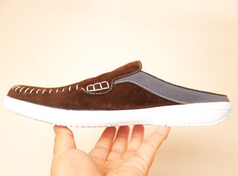 KICKERS - Sandal Sendal Slop Pria wanita Bustong Kickers sandal sendal santai bahan suede