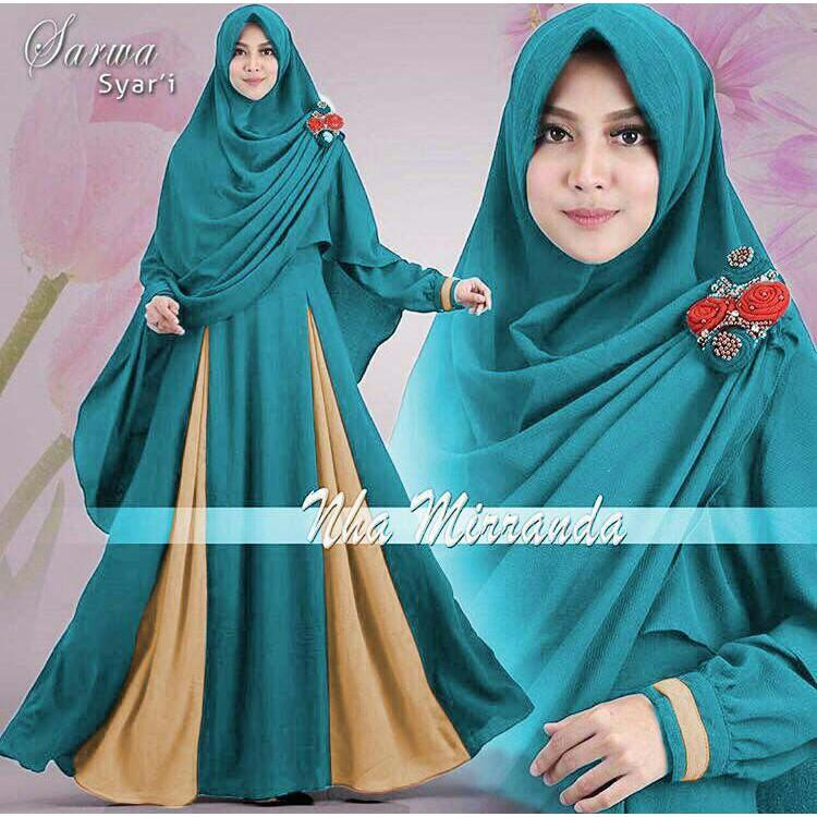 UL09 Syari Sarwa 4WARNA / F6 / Gamis Jaman Now / Jual Pakaian Muslim Wanita / Busana Muslim Kekinian (BENHUR)