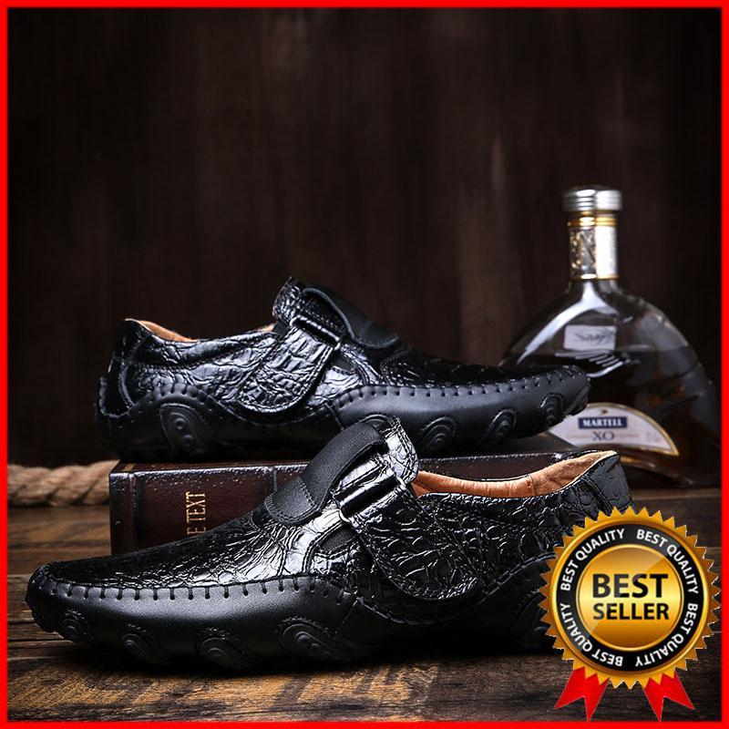 DanJi Men S Shoes Baru Fashion Kulit Asli Sepatu Mengemudi Men S Sepatu  Kasual English Mengemudi Se 8bdc88cecd